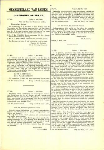 Handelingen van de Raad 1930-05-06
