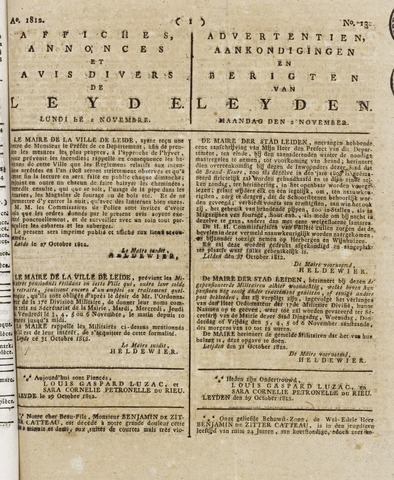 Leydse Courant 1812-11-02