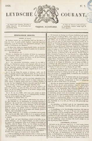 Leydse Courant 1852-01-16