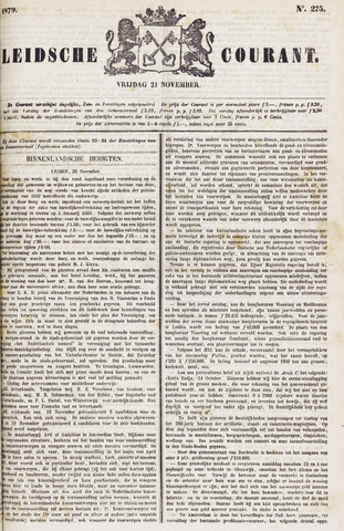Leydse Courant 1879-11-21
