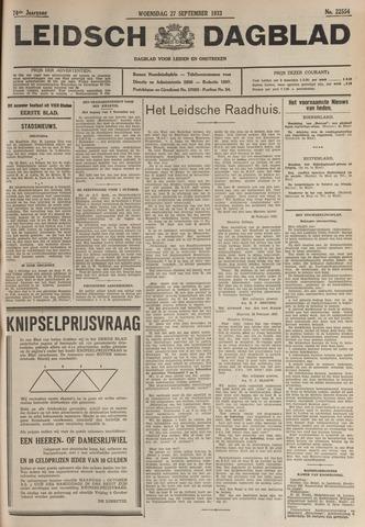 Leidsch Dagblad 1933-09-27