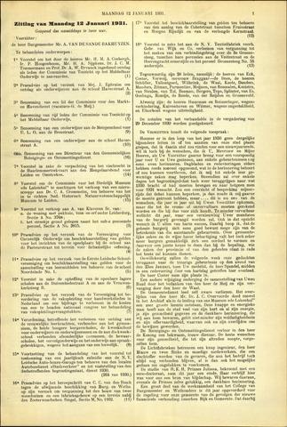 Handelingen van de Raad 1931-01-12