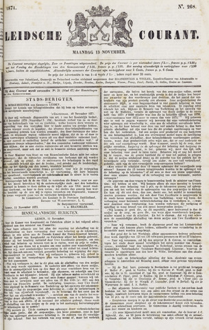 Leydse Courant 1871-11-13