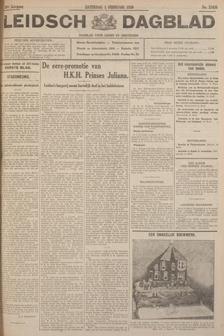 Leidsch Dagblad 1930-02-01