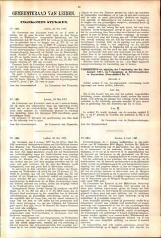 Handelingen van de Raad 1917-05-30