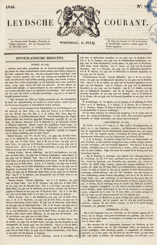Leydse Courant 1846-07-15