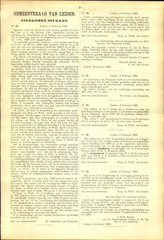 Handelingen van de Raad 1900-02-05
