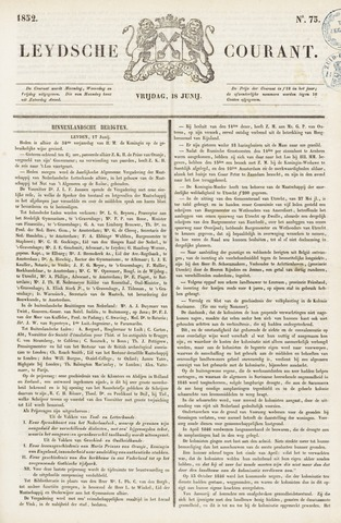 Leydse Courant 1852-06-18