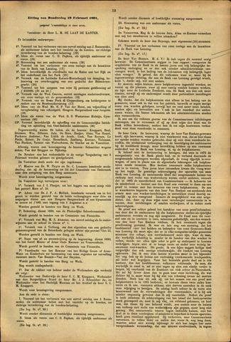 Handelingen van de Raad 1891-02-19