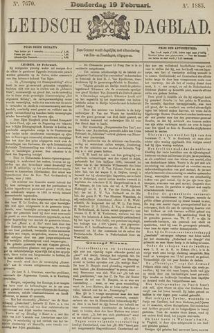 Leidsch Dagblad 1885-02-19