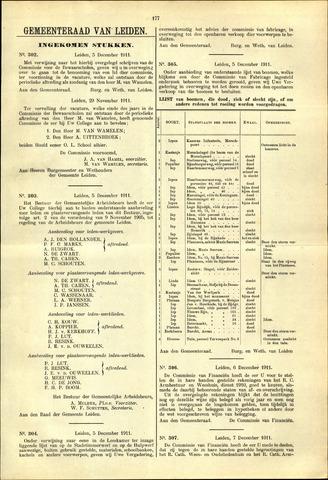 Handelingen van de Raad 1911-12-05