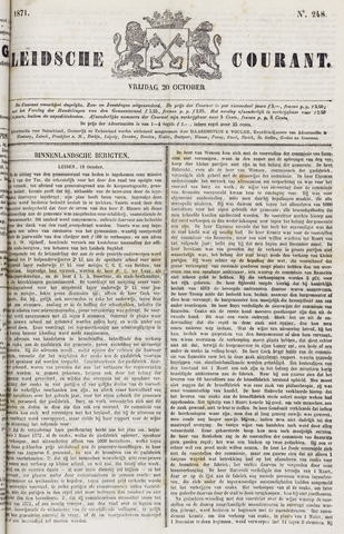 Leydse Courant 1871-10-20