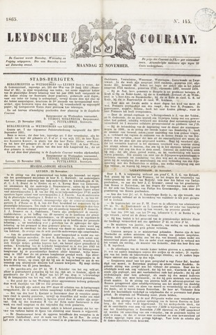 Leydse Courant 1865-11-27
