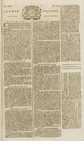 Leydse Courant 1819-08-23