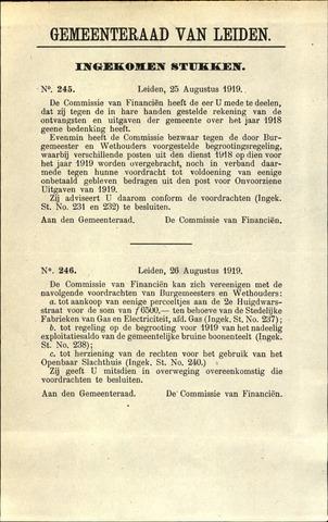 Handelingen van de Raad 1919-08-25