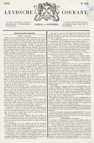 Leydse Courant 1855-09-14