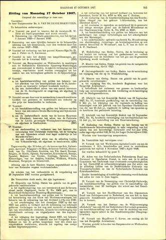Handelingen van de Raad 1927-10-17