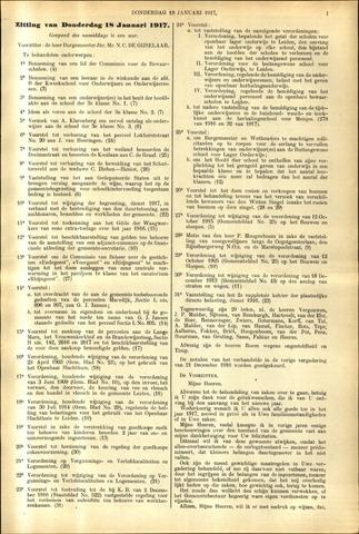 Handelingen van de Raad 1917-01-18