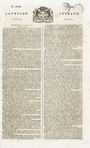 Leydse Courant 1841-03-08