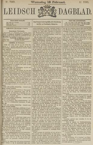Leidsch Dagblad 1885-02-18