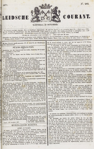 Leydse Courant 1871-11-29
