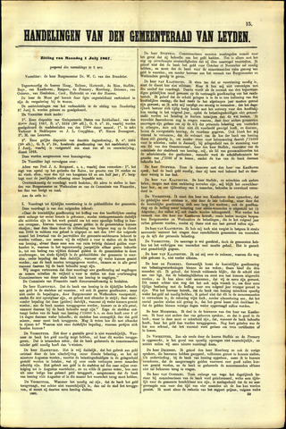 Handelingen van de Raad 1867-07-01