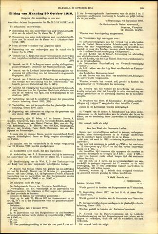 Handelingen van de Raad 1916-10-30