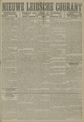 Nieuwe Leidsche Courant 1921-11-21