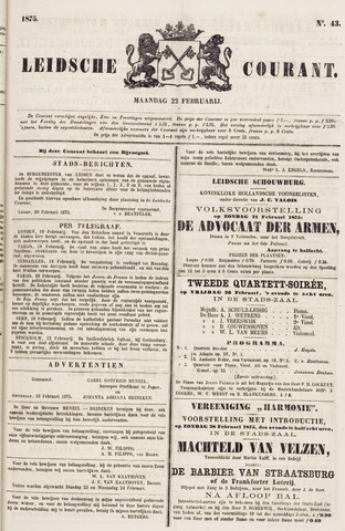 Leydse Courant 1875-02-22