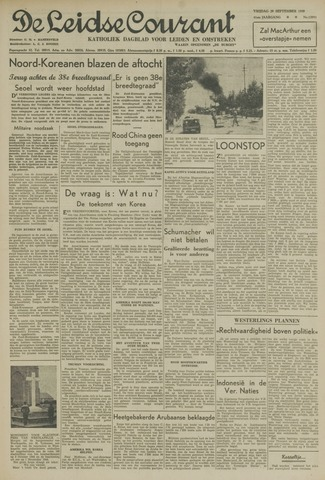 Leidse Courant 1950-09-29