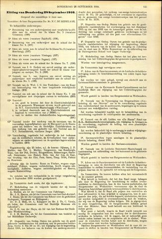 Handelingen van de Raad 1916-09-28