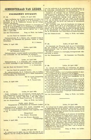 Handelingen van de Raad 1929-04-29