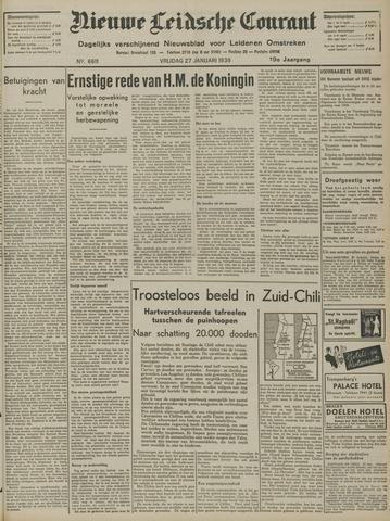 Nieuwe Leidsche Courant 1939-01-27
