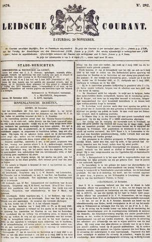 Leydse Courant 1879-11-29