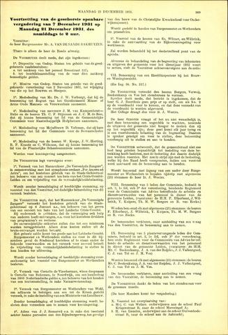 Handelingen van de Raad 1931-12-21