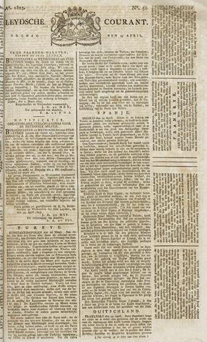 Leydse Courant 1825-04-29