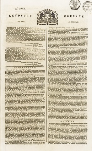 Leydse Courant 1841-03-26