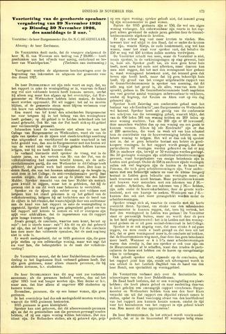 Handelingen van de Raad 1926-11-30
