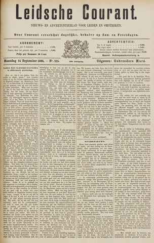Leydse Courant 1885-09-14