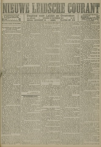 Nieuwe Leidsche Courant 1921-11-25