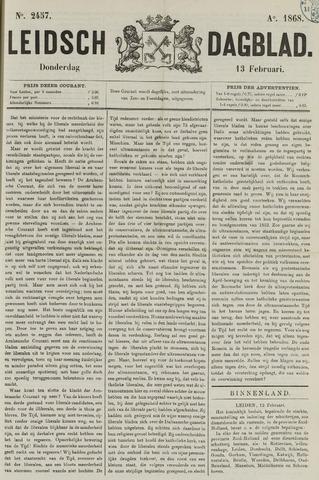 Leidsch Dagblad 1868-02-13