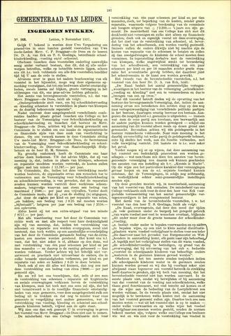Handelingen van de Raad 1937-11-09