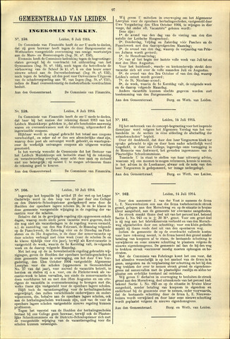 Handelingen van de Raad 1914-07-08