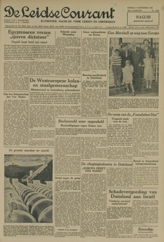 Leidse Courant 1952-09-09