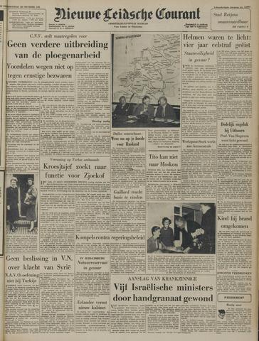 Nieuwe Leidsche Courant 1957-10-30