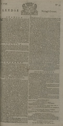Leydse Courant 1739-03-27