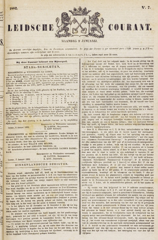 Leydse Courant 1882-01-09