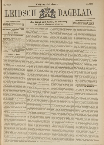 Leidsch Dagblad 1893-06-30