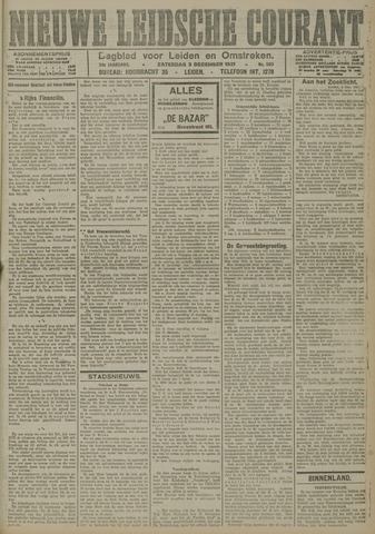 Nieuwe Leidsche Courant 1921-12-03