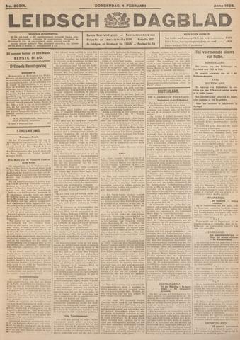 Leidsch Dagblad 1926-02-04